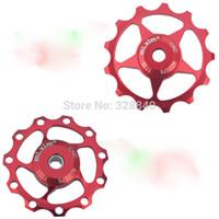al aluminium - T T MTB BIKE Rear Derailleur Aluminium Alloy CNC AL Jockey Wheel Pulley