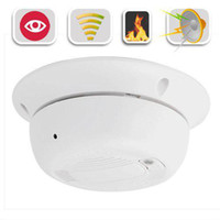 Wholesale HD anti spy equipment camera Smoke Detector Hidden Fast shipping days