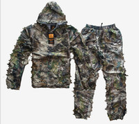 Wholesale Outdoor Browning Hunting Bird Photography D Woodland Camouflage Forest Camouflage Geely Disguise Jacket and Pants Suits