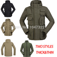 Wholesale TOP quality brand military tactical camouflage jacket More pocket army green hooded coat waterproof hunting jackets