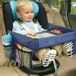 Wholesale Car Child Kids Safety Seat Baby Snack Play Travel Tray Drawing Board Table Waterproof Useful