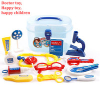 babies toy chests - Kids Simulation Doctor Pretend Play Set Toy Medicine Box Chest Kit Instruments Nurse Children Baby Playsets Set Tools Case