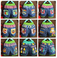 jeans wholesale price - summer cartoon printed cute and fashion cheap price jeans shorts for child boys