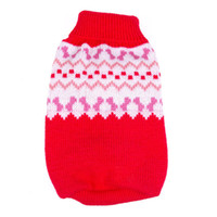 Wholesale New Puppy Pet Dogs Knitted Tops Jumper Sweater Coat Clothes Patterned Apparel