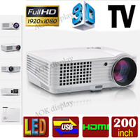 Wholesale P full hd led Digital projector support x1080 d home cinema theater projetor lcd video proyector projektor hdmi tv usb