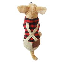 bandanas uk - Red new UK Bib Man Style Pet dogs Coat Dogs Clothes new clothing for dog