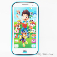 Cheap Wholesale-English Russian Learning Toy Phone Educational Learning Mobile Toy Song Light Record Story Telling Toy for Children Baby Kid