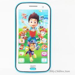 Registro Luz Canción mayor-Inglés Ruso Aprendizaje Teléfono de juguete juguetes educativos de aprendizaje móvil decir de historia juguete para los niños del cabrito del bebé desde historia ruso fabricantes