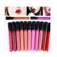 Wholesale-2015 Nueva Velvet Mate lápiz labial maquillaje a prueba de agua Magia Desnuda Lip Gloss 38 colores disponibles Lip cosmética cosmética coreana