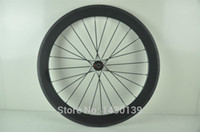 Wholesale New C mm clincher rim Road Track Fixed Gear bike K UD K full carbon bicycle wheelset mm width Free ship