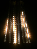 Wholesale Warm White Lamp LED Meteor Shower Rain Tubes Snowfall fairy Light For Xmas Christmas Wedding Garden Decoration US DJ00081