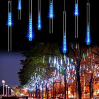 ac lowes - CM Tubes Outdoor Falling Rain Snow String LED Wedding Christmas New Year Party Decoration Fairy Lights Lowes EU Plug V