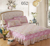 Cheap Wholesale-Beautiful pink Twin Full Queen King size 1pcs Bed skirts Bedclothes Bedspread Bed Sheets Bedding set Single   Double size