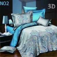 bedding comforter king beige - D bedding set reactive printing set King size comforter duvet cover set bed sheet sets fast shipping