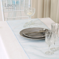 beach table runners - pieces quot x quot Blue Organza Table Runner for Beach Wedding Party Decoration