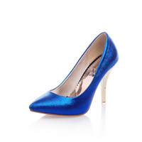 large size high heel shoes - High Heels Pointed Toe High Heels Basic Party Stiletto Sexy High Heels Female Large Size Glitter Silver Shoes CC