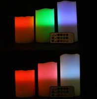 Wholesale Candles Flameless LED Ivory Color with Remote Set of quot quot quot
