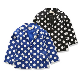 Wholesale-Boys casual blazers tops polka dot children blazer party coat for boy 2015 designer kids clothes