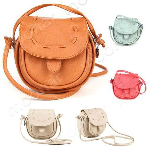 Wholesale Fashion Cute Girls Soft Pu Leather Round Shape Small ...