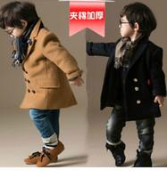 baby duffle coat - autumn boys wool winter jacket trench coats british style duffle coat button baby boy s wool windbreak coat Y