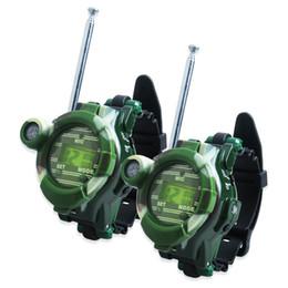 Wholesale-Hot Selling Two Way Radio Walkie Talkie Kids Child Spy Wrist Watch Gadget Toy