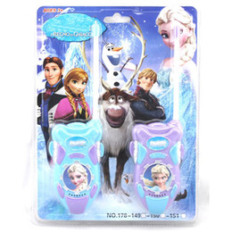 Wholesale-2pcs lot Frozenned Elsa Princess Toy Interphone Children Game Intercom Electronic Toy,Walkie Talkie Toys Kids Girl Gifts Toys #D