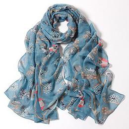 Foulards en coton de marque de gros à vendre-Gros-dames foulards 2015, les femmes écharpe, Owl Cartoon impression, châles de coton, hijab musulman, bandana, foulard de concepteur, châles et foulards, cape, wrap