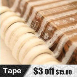 Wholesale DIY Cute Lace PVC Tape Sweet Sticker for Decor Scrapbooking Album Gift Korea Stationery Designer