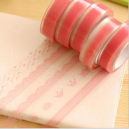 Wholesale Pink DIY Cute Lace PVC Tape Sweet Sticker for Decor Scrapbooking Album Gift Designer