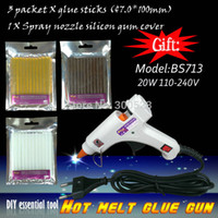 Wholesale in EU plug watt Decorations Use Hot melt glue gun Contain bag keratin glue stick