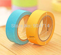 Wholesale candy color paper Tapes paper tape can write on DIY cute stickers color D4 cm W1 cm per