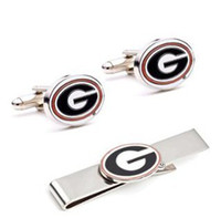 Wholesale NCAA Mens University of Georgia Bulldogs and Tie Bar Gift Set For Men Shirt and tie accessories CF0758