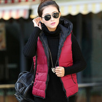 Wholesale New outerwear thickening patterns fashion casual cotton hooded vest women vest jacket Motorcycle Shipping