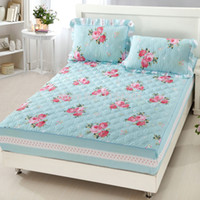 Wholesale Hot sale New arrival fitted thickening cotton padded bedspread simmons protection pad set slip resistant mattress cover
