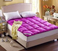 Wholesale cm kg duck down filler mattress pad duck down mattress cover hotel mattress protector duck down bed mattress color