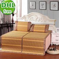 bamboo crib bedding - DHL bamboo amp rattan double side single twins bed giant summer sleeping mat kids sleeping cool folding bed mat
