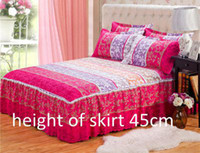 Wholesale high quality pink Home textile Reactive Print fitted bed sheet with elastic Cover Bed sheet King Queen Full size