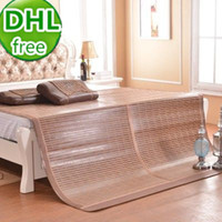 bamboo and rattan - DHL free set Bamboo and rattan fiber mat for sleeping summer cool bamboo folding bed mattress cover for double bed