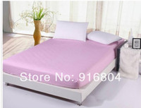 Wholesale New Arrival Queen Size Cotton Satin Solid Color Mattress Cover Bed Set Mattress Cover Pillow Case