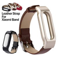 adjustable replacement leather strap - Adjustable Genuine Leather WristBand Lemfo Replacement Wristband Strap for Xiaomi Mi Band Miband Mi Smart Bracelet Accessories