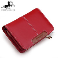 Wholesale Hot sale wallet female medium long cowhide zipper student wallet clutch card holder wallet coin purse