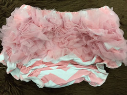 Wholesale RANDOM DELIVERY ONLY baby girls cotton bloomers infant bloomers baby bloomers baby shorts girls chiffon Ruffle Diaper Cover