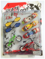 Wholesale New Arrival Plastic Bicycle Finger Skateboard Toys for Children Sets Funny Mini Fingerboards Toys for Kids Gift
