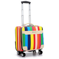Wholesale inch Pu Male and Women Rolling Luggage Case Carry ons Luggage Suitcase Trolley case Luggage box