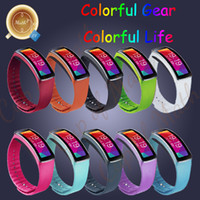 Wholesale Replacement Rubber Band For SAMSUNG GEAR Fit Bracelet band Strap with Metal Clasps Colors