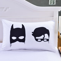 batman pillowcase - Piece Little Superhero Fans Batboy Pillow Case x74cm Batman Pillow Cover for Kids Black White Super Soft Pillowcases Gift