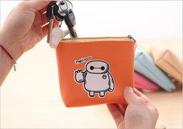 Wholesale NEW Kid s School Gift Coin Case BIG Hero The Baymax PU Girls Coin Bags Women Mini Storage Coin Purse BAG amp Wallet