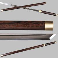battle art - Japanese Ninja Sword Practical Carbon Steel straight Blade Handmade Katana Sharp Ready for Battle