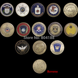Wholesale American Officer challenge coin mm silver plated coins US Army coin Mix designs SAINT MICHAEL replica coins
