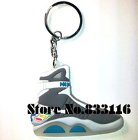 Cheap 2015 NEW ARRIVE!!! Wholesale 20pcs Lot NEW SNEAKER AIR MAG 2D SHOES YEEZY KEY CHAIN KEYCHAIN BACK TO THE FUTURE FREE SHIPPING